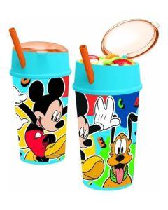 Vaso con porta cereal Mickey