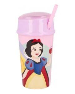 Vaso con porta cereal Princesas