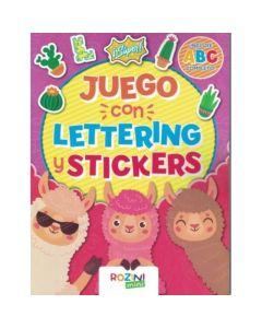 Libro juego con lettering y stickers