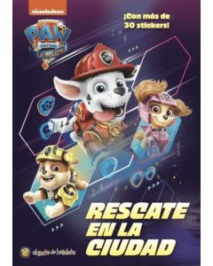 Libro Paw patrol Rescate en la ciudad ¡con mas de 30 stickers!