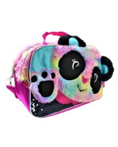 Bolso mediano Panda con peluche y orejitas