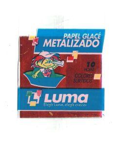 Papel glace x10 Colores Metalicos de 10x10 cm